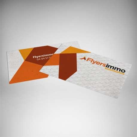 Impression discount carte de visite papier recyclé