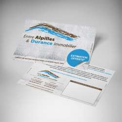 Impression flyers papier recyclé immobilier