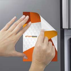 Impression magnet publicitaire aimant frigo