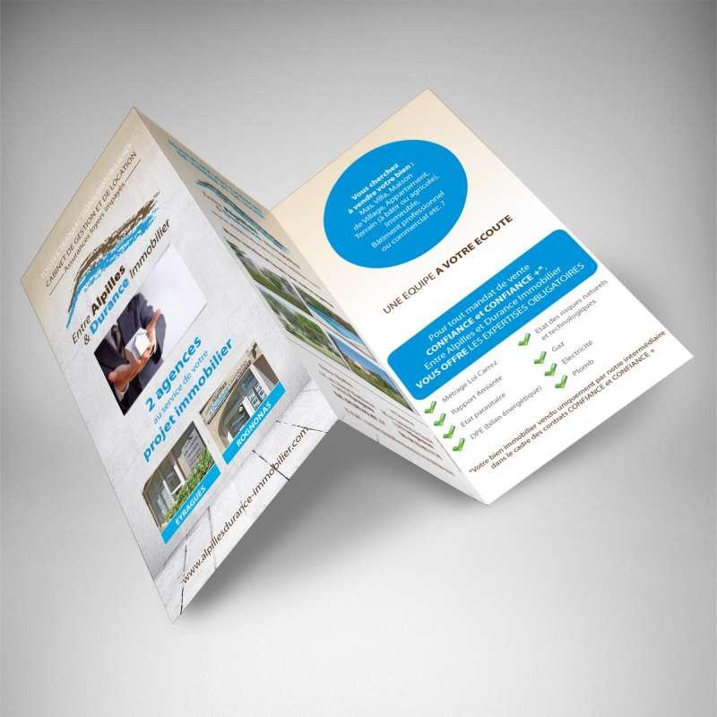 A4 Ou A3 >> Impression en ligne dépliant 3 volets immobilier pas cher