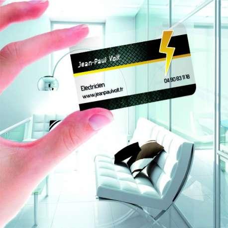 Flyersimmo Numero 1 De La Carte Visite PVC Transparente Immobilier