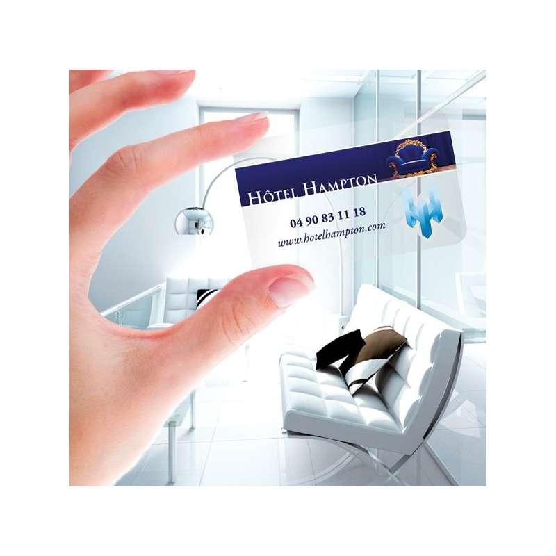 PVC Transparente Immobilier Carte De Visite