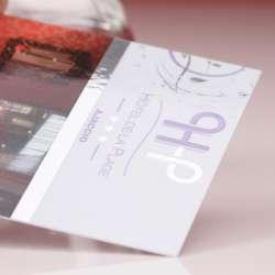 Impression cartes de visite dorure à chaud argent